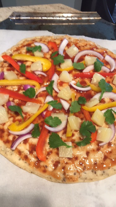 Barbecue Pineapple Pizza