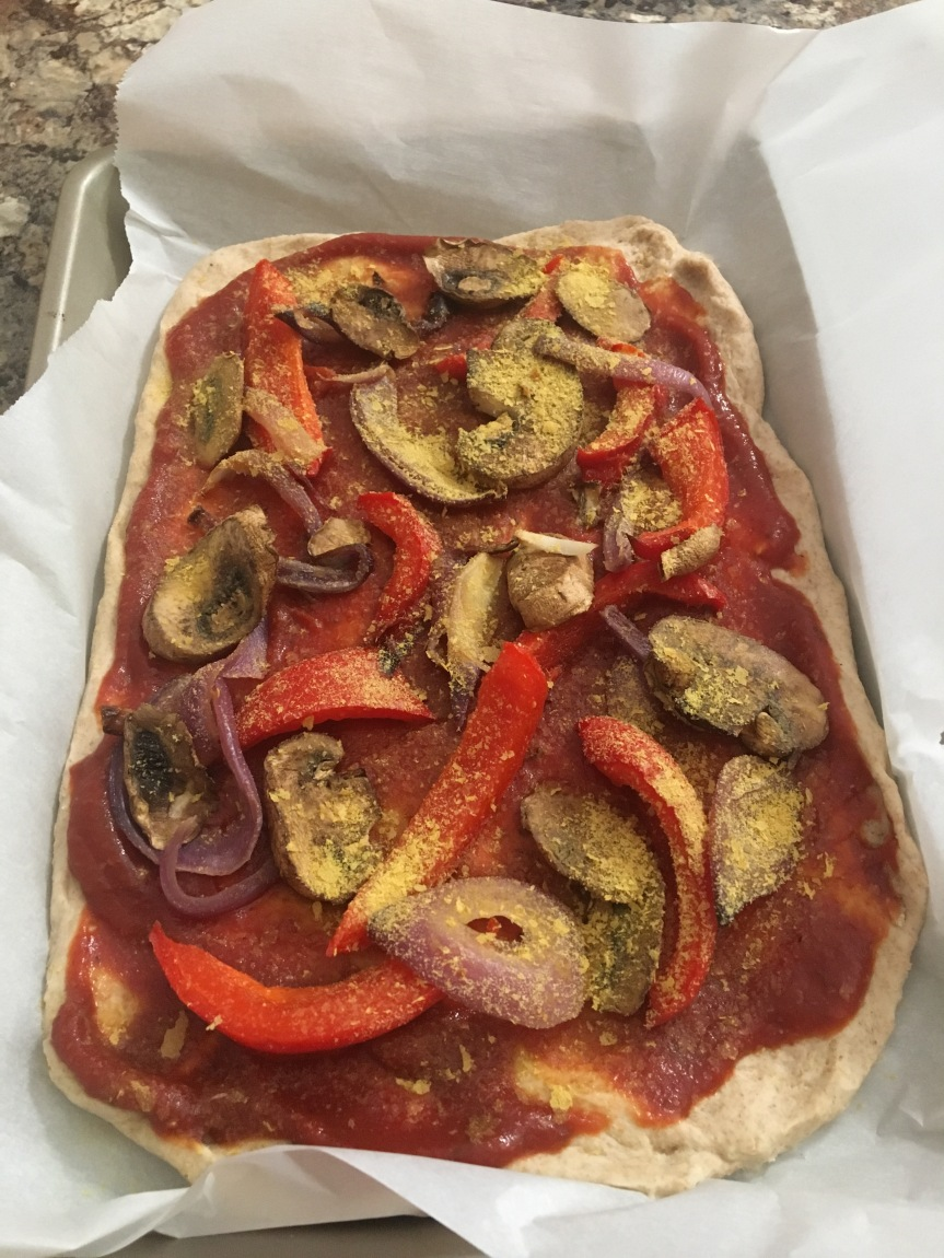 Pizza with Wildtree Whole Wheat Dough