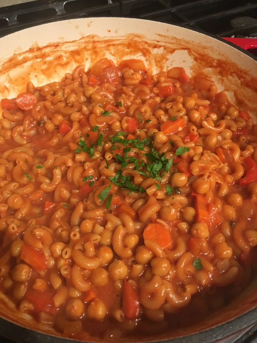 Smoky Spicy Chickpea Chili Mac