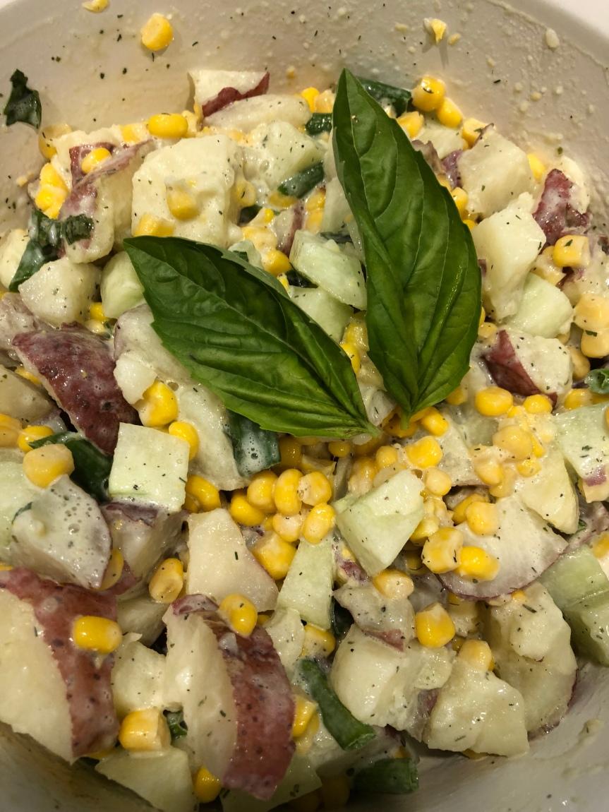 Corn and Basil PotatoSalad