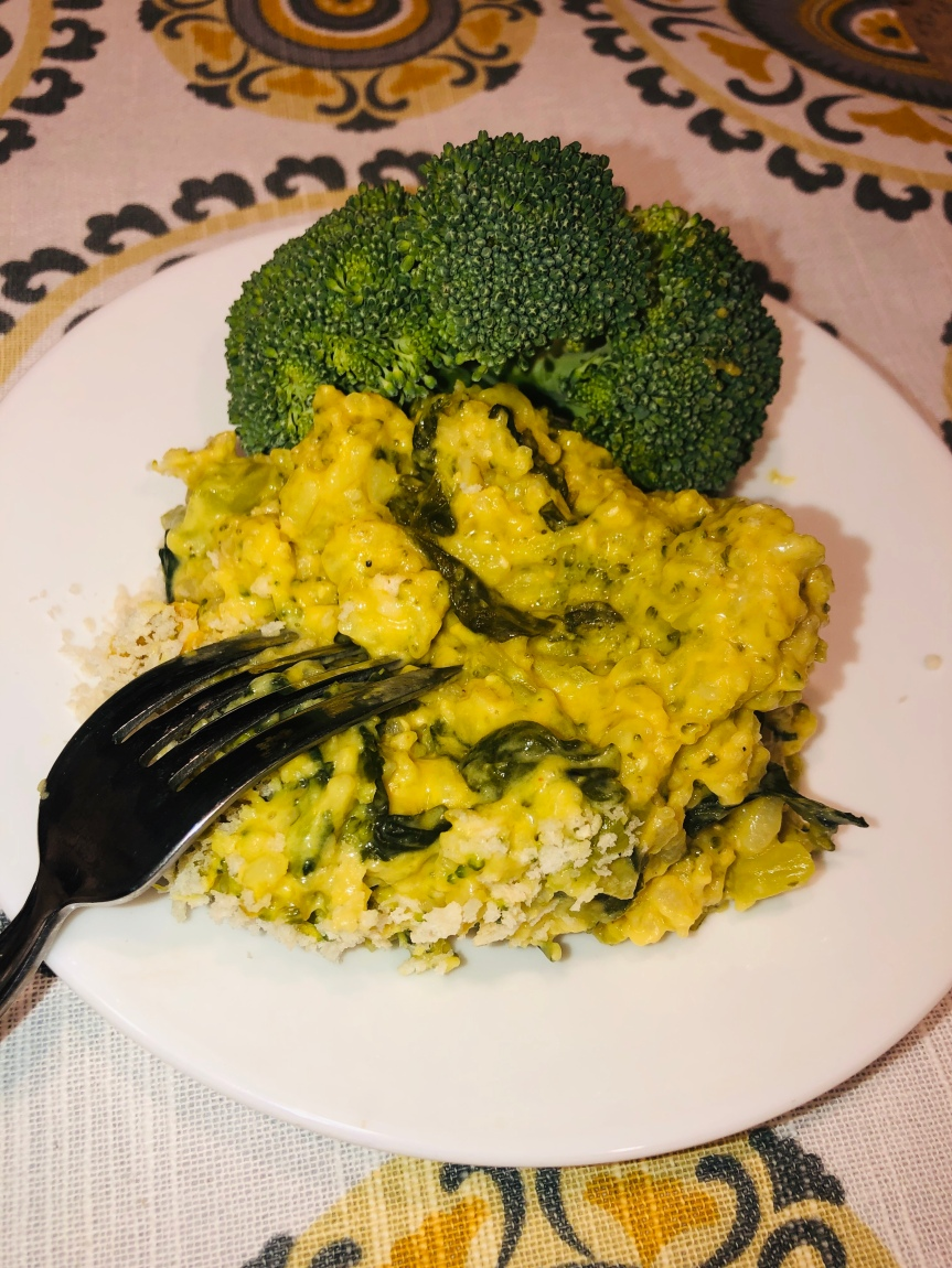 Broccoli Rice and Cheeze Casserole with Kale